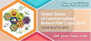 Cover photo for Global Status of Commercialized Biotech / GM Crops: 2016