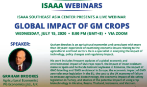 Cover photo for ISAAA Report on the Economic and Environmental Impact of Genetically Modified (GM) Crop Globally for the Past 23 Years